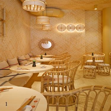 Restaurant Neghisi, Zürich - Tapetendruck Spillmann